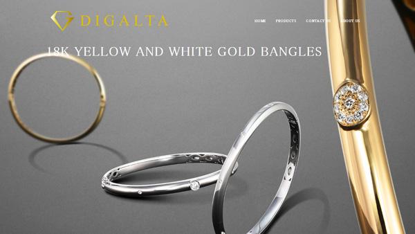 18金バングル・ブレスレット ジュエリーブランド【DIGALTA】トップページ画像