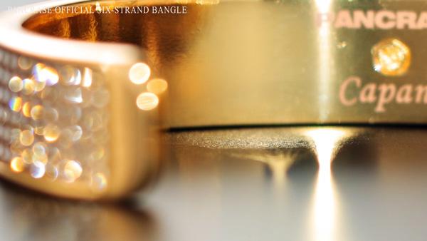 パンクラスxカパーナ 6連バングルの商品映像制作。10/4パンクラス270の世界ライブ配信のCMに使用。