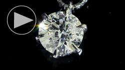 プラチナ1.20ctダイヤモンドペンダントネックレス 上面(俯瞰)