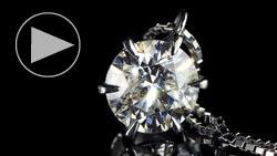 プラチナ1.20ctダイヤモンドペンダントネックレス 縦置き正面