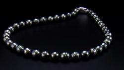 タヒチ産8~10mm南洋黒真珠ネックレス 全体