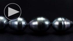 タヒチ産8~10mm南洋黒真珠ネックレス 拡大
