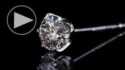 プラチナ合計0.40ctダイヤモンドピアス 拡大&スライド(キャッチ無)