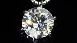 プラチナ0.90ctダイヤモンドペンダントネックレス 上面(俯瞰)