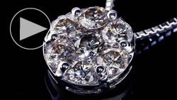 プラチナ合計0.70ctダイヤモンドネックレス 斜め上