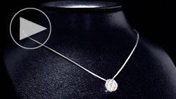 プラチナ合計0.70ctダイヤモンドネックレス トルソー正面