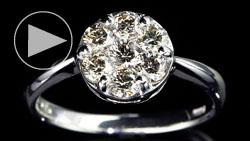 プラチナ合計0.70ctダイヤモンドリング 縦置き上面(俯瞰)