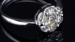 プラチナ合計0.70ctダイヤモンドリング 横置き回転