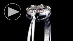 プラチナ合計0.70ctダイヤモンドリング 縦置き正面(水平方向)