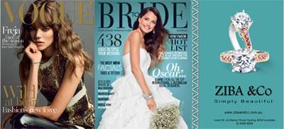 2014年8月発売のオーストラリア版VOGUEとBRIDE TO BEの広告でしようされたダイヤモンドリングの画像のサムネイル
