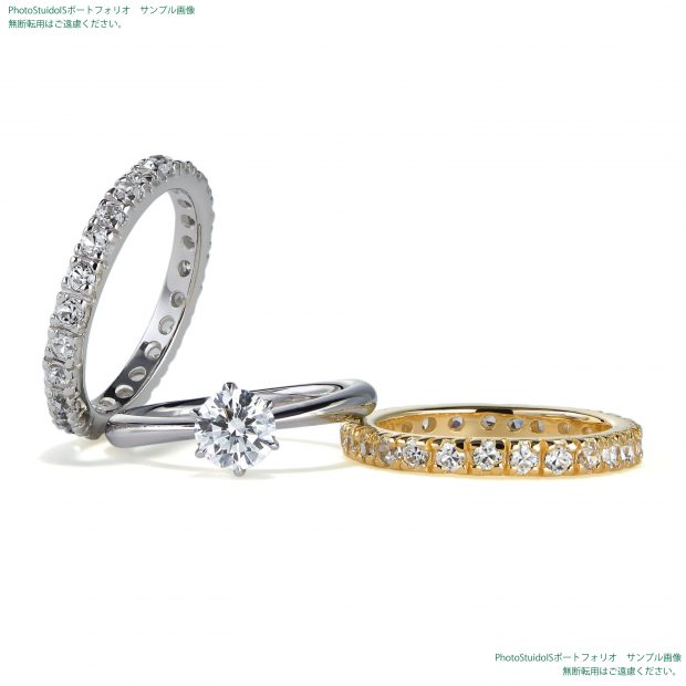 エタニティリング、婚約指輪のイメージ画像 フォトスタジオISの撮影実績写真サンプル