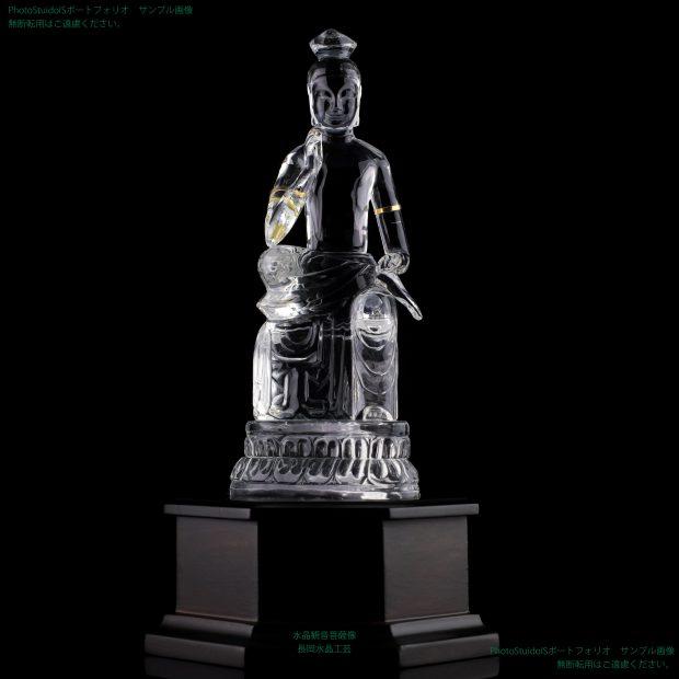 水晶観音菩薩像 長岡水晶工芸 フォトスタジオISの撮影実績写真サンプル