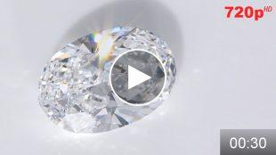 ダイヤモンドルース 2.148ct オーバルカット Dカラー VVS1 ミニ動画 HD版