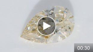 ダイヤモンドルース 3.456ct LY ピアカット VS1 ミニ動画