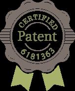 グリーンベーダー特許権利化バッジ