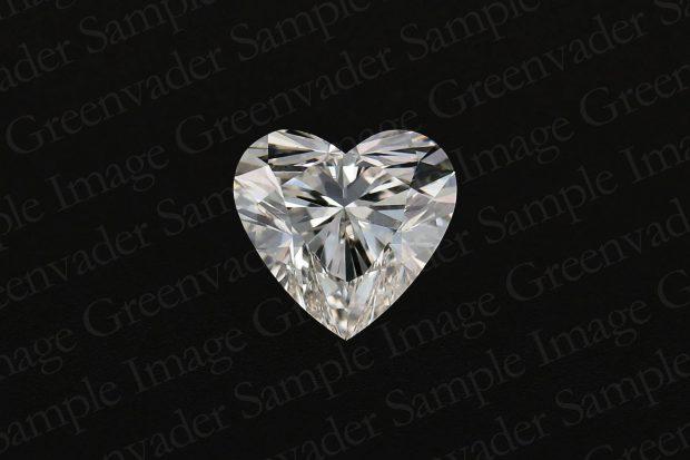 ハートカット ダイヤモンドルース 正面 黒背景 撮影実績写真サンプル-PhotoStudioIS