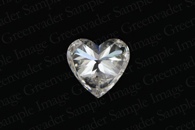 ハートカット ダイヤモンドルース 裏面 黒背景 撮影実績写真サンプル-PhotoStudioIS