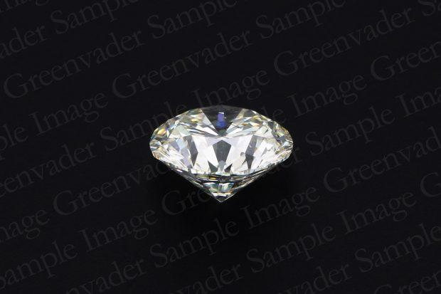 ラウンドブリリアントカット ダイヤモンドルース 斜め上方向 黒背景 撮影実績写真サンプル-PhotoStudioIS