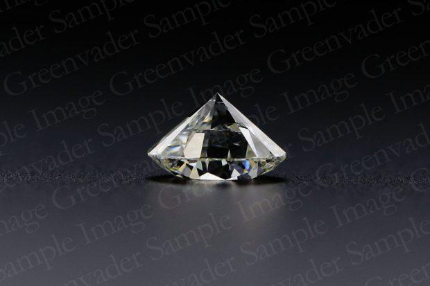ラウンドブリリアントカット ダイヤモンドルース 横方向 黒背景 撮影実績写真サンプル-PhotoStudioIS