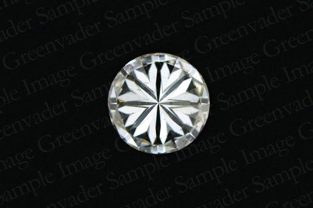 ラウンドブリリアントカット ダイヤモンドルース 裏面 黒背景 撮影実績写真サンプル-PhotoStudioIS