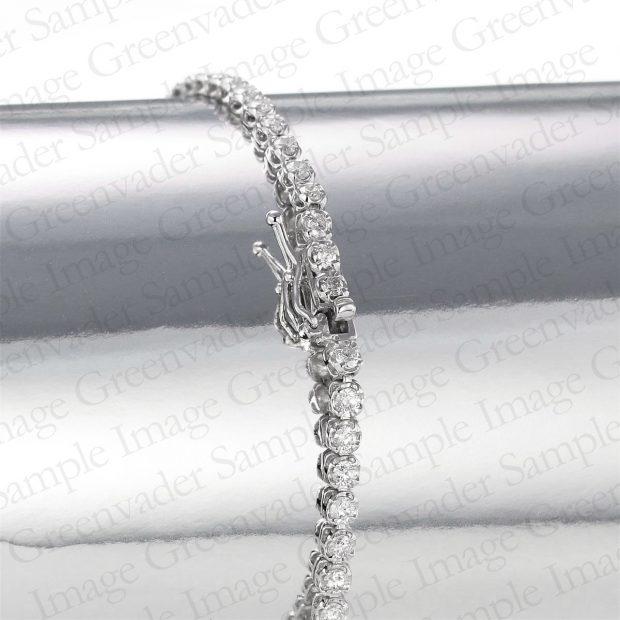 ダイヤモンドプラチナテニスブレスレット 留め具
