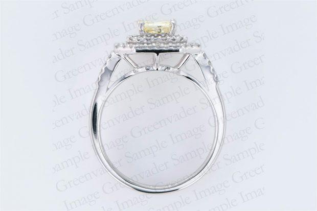 1.09ct イエローダイヤモンド ダイヤモンドプラチナリング 俯瞰 撮影実績写真サンプル-PhotoStudioIS